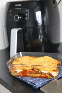 Lasagne met courgette en ricotta - Lekker en Simpel Spaghetti Recipes, Pasta Recipes, Clean Recipes, Healthy Recipes, Healthy Food, Vegas, Food Tags, Air Fryer Recipes, Lasagna