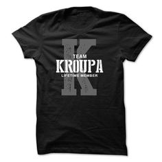 Awesome Tee Kroupa team lifetime member ST44 T-Shirts