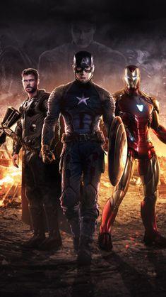 Avengers Endgame: Captain America, Thor, and Iron Man Marvel Avengers, Marvel Comics, Captain Marvel, Marvel Memes, Hawkeye Marvel, Avengers Memes, Avengers Poster, Disney Marvel, Captain America Wallpaper