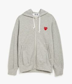 COMME DES GARCONS PLAY Cotton Pile Zip Hoodie