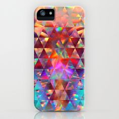 Reflections VI iPhone & iPod Case by Rain Carnival - $35.00 iphone, samsung, case, skin, triangle, colorful