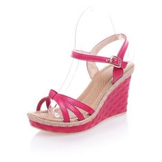 MayMeenth Women's High-Heels Soft Material Solid Buckle Open Toe Wedges Sandals *** See this great product.