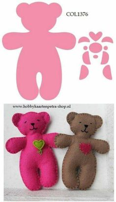Sewing For Kids Toys Ideas 54 Ideas - Claire C. Sewing For Kids Toys Ideas 54 Ideas - Operation Christmas Child, Sewing Projects For Kids, Sewing For Kids, Sewing Ideas, Fabric Toys, Felt Fabric, Sewing Dolls, Bear Toy, Felt Toys