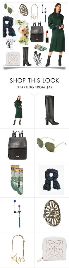 """""""Dress In Bottle Green..**"""" by yagna on Polyvore featuring Martha Stewart and Joe Fresh"""