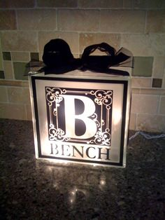 Elegant Monogrammed, Personalized decal for glass light block, night light, tile, DECAL ONLY, DIY, family last name, Wedding, housewarming on Etsy, $10.00