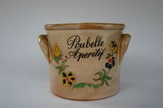 French Tabletop Bin, French Ceramic Poubelle Aperitif, French Stoneware, Table Tidy, Utensil Holder by FrenchCandy on Etsy https://www.etsy.com/listing/183646342/french-tabletop-bin-french-ceramic