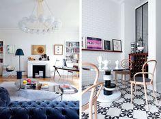 Feminine Chic Apartment in Paris