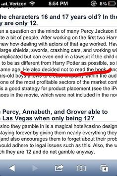 Christopher Columbus, Director of The Lightning Thief, did not read the Percy Jackson Books!!!!!!!!!!  Well, this explains a lot, now, doesn't it, my dear fandom?