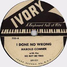 Vintage record label.