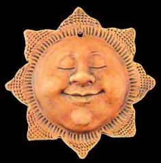 Here comes the sun Sun Moon Stars, Sun And Stars, Good Morning Sunshine, My Sunshine, Clay Art Projects, Sewing Projects, Sun Designs, Sun Art, Moon Design