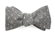 Knotted Dots Bow Ties - Grey | Ties, Bow Ties, and Pocket Squares | The Tie Bar