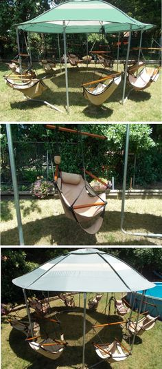 This it too wonderful. Would probably use a gazebo and nicer swings to class it up a bit
