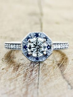 I Love how classic this looks ~ Unique Engagement Rings by Ken & Dana Design by ophelia