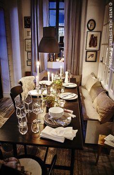 Des petits espaces festifs. Table à rabats INGATORP #IKEABE #àtable #fête #diner