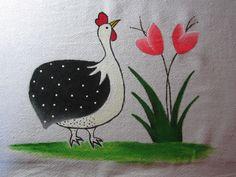 Patria da costura: Passo-a-passo: Pintando no pano de prato