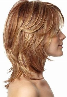 Image result for Medium Shag Hairstyles with Bangs Fine