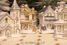 Pottery Barn Inspired Christmas Village - Even though we've just entered the month of November, I've decided it is absolutely necessary for me to start my Chris…