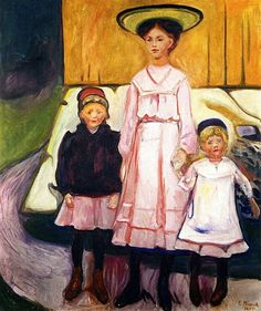 Edvard Munch - Three Girls In Åsgårtstrand