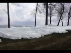 Ice From the Ocean Attacks a House - Jan 9, 2014