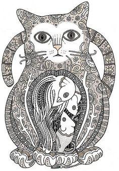 Openwork stencils cats | Kotek