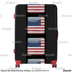 Shop Flag of the United States of America Luggage created by JAMFotoWorms. Painting Digital, Third Base, Luggage Suitcase, Flag, United States, America, Make It Yourself, Science, Flags