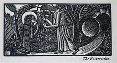 David Jones - Artist & Poet - A Rosary Calendar 1931 (from A Child's Rosary Book David Jones Artist, Mary Magdalene, Scripture Art, Wood Engraving, Christian Art, Printmaking, Tapestry, Illustration, Artwork