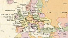Map of the world's rudest place names is a thing of beauty