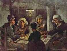 The Potato Eaters by Vincent van Gogh. (The Dutch still love their potatoes btw.. :D)