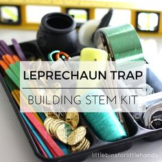 Have you ever wanted to catch a leprechaun? This St Patricks Day put together a leprechaun trap kit. A fun STEM activity for kids for kids to build a trap!