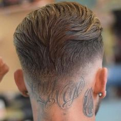 Thick Brushed Back Hair + Low Skin Fade