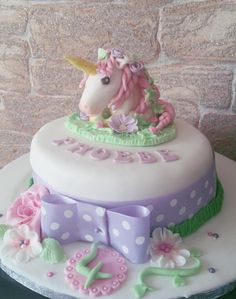 Made for my daughters birthday Daughters, To My Daughter, Horse Cake, 4th Birthday, My Little Pony, Cake Ideas, Fondant, Cakes, Crystals