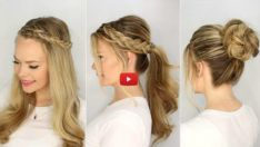 5 Minutes Daily Use Braided Hairstyles 5 minutes daily use braided hairstyles will make your life very easy, speacialy if you having morning rush. 5 Minutes Daily Use Braided Hairstyles Half Up Dutch Braids Step On the left side with a de Easy Hairstyles For Kids, Mom Hairstyles, Haircuts For Long Hair, Pretty Hairstyles, Braided Hairstyles, Holiday Hairstyles, Everyday Hairstyles, Ponytail Styles, Braided Ponytail