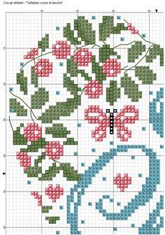 alfabeto cuore di bacche: J 1