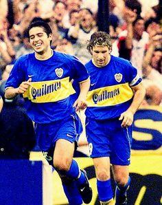 Riquelme y Palermo. Mis idolos.