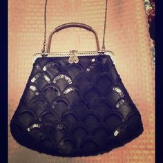 Black laced & antique gold handbag crossbody purse New without tag..Very pretty. No tears or marks. Clean. Antique brass gold with black lace. Can be worn as a cross body or handbag. Has a classic vintage look to it. Quite large for a cross body purse. Spaceous. Thanks♥️ Bags Crossbody Bags