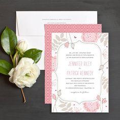 Bohemian Spring Wedding Invite