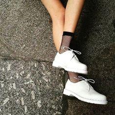 Docs and Socks: The 1461 White Mono shoe, shared by darkskinisnotacrimebro.