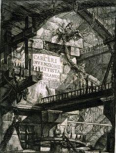 Giovanni Battista Piranesi: Carceri  d'Invenzione (imaginary prisons)