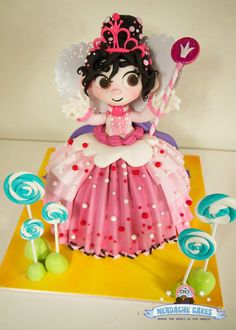 Vanellope from Wreck-It Ralph Cake http://geekxgirls.com/article.php?ID=3126