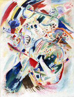 Wassily Kandinsky, 1914,Panel for Edwin R. Campbell No. 4 on ArtStack #wassily-kandinsky-vasilii-vasil-ievich-kandinskii #art