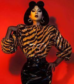 Violet Chachki - The Past, Present and Future of Drag Queen Fashion, Look Fashion, Fashion Art, Editorial Fashion, Violet Chachki, Poses, Drag Queen Makeup, Adore Delano, Rupaul Drag
