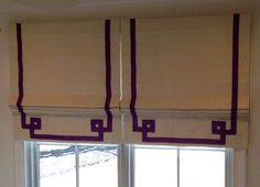 Go from simple to fab with this Greek Key custom made banding from ribbon. This example was just installed into one of our clients homes and we love