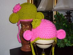 Monkey hats...the same, but different, just like twins
