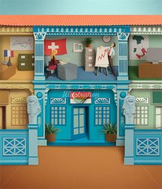 Gail Armstrong Illustration Portfolio - Paper sculpture Illustrator, 3d paper cut illustrations