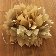 Diy paper hydrangea... very easy to make one. Saw the photo tutorial on pinterest and now i have my own paper beauty :)