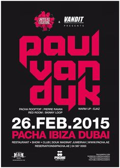 Paul Van Dyk February 26th for UNITED AS EVERYONE