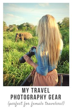 Every day, I get questions about my travel #photography gear. As a female traveler, there are a few things that are important when choosing #travel photography gear.