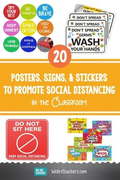 20 Posters, Signs, Classroom Posters, Classroom Door, Discounts For Teachers, Classroom Incentives, Floor Decal, Learning Tools, Best Teacher, Health Education, Best Face Products