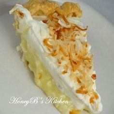 Coconut Cream Pie #Easter #coconut #pie