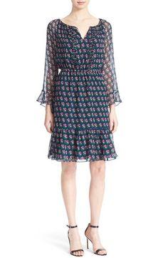 DIANE VON FURSTENBERG 'Simonia' Floral Print Silk Dress. #dianevonfurstenberg #cloth #